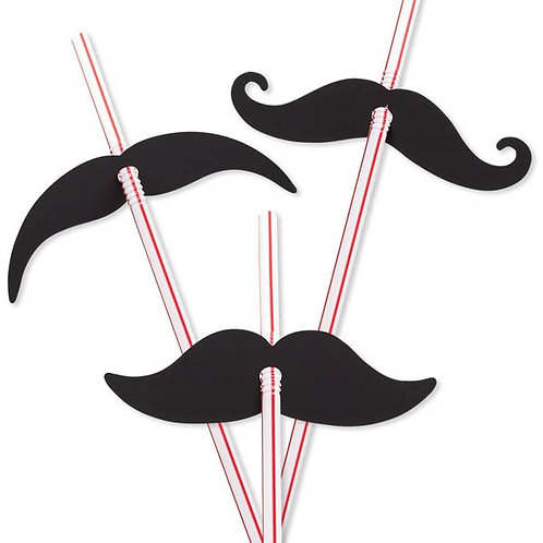 Moustache drink straws | Little man party theme | party straws | 24-7 Party Paks