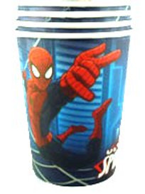 Spiderman Ultimate party cups pk 8 boys parties