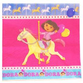 Dora the Explorer Carousel horse theme party napkins girls parties