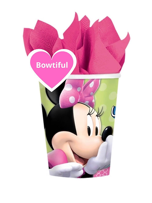 Minnie Mouse party cups | Minnie Mouse girls birthday party | kids party supplies australia | 24-7 party paks