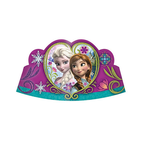 1 x pack of 8 Disney Frozen Elsa and Anna party hats Tiara