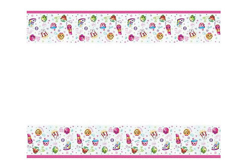 Shopkins birthday party tablecover plastic 180 cm