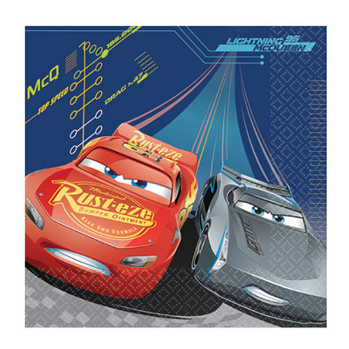 Disney Cars 3 Party Paper Napkins Pack 16