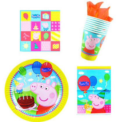 Peppa Pig party packs plates cups napkin loot 8