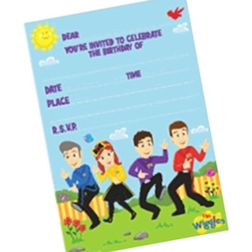 Wiggles birthday invites | birthday party invitations | wiggles invites | 24-7 Party Paks