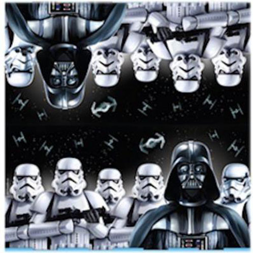 Star Wars party paper napkins Darth Vader pack 16