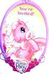 My Little Pony birthday party invites pack 8 sale
