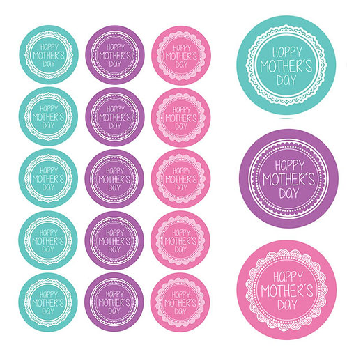 Mothers Day Edible Image Cupcake Toppers x 15