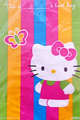 Hello Kitty loot bags pack 8 kids party bags