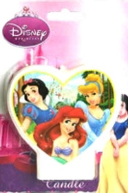 Disney Princess heart shaped birthday candle for your little princess