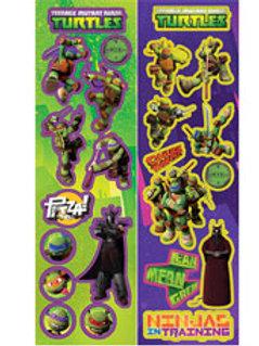 Teenage Mutant Ninja Turtle stickers favors pk 8