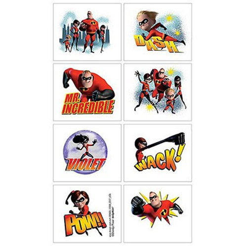 Incredibles temporary tattoos | Incredibles party favors | 24-7 Party Paks