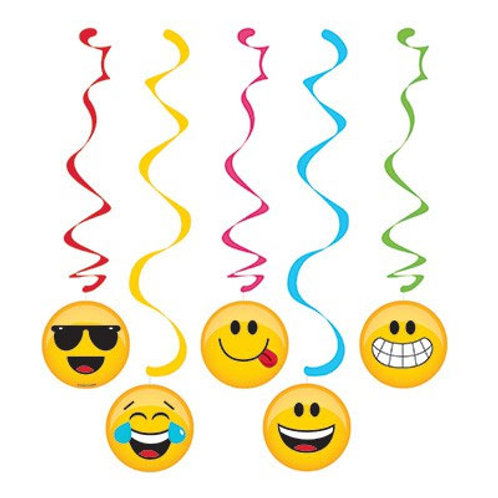 Emoji Dizzy Danglers Hanging Swirl Decorations 1