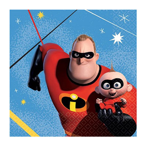 Incredibles 2 party napkins | kids party napkins | incredibles birthday party theme | 24-7 party paks