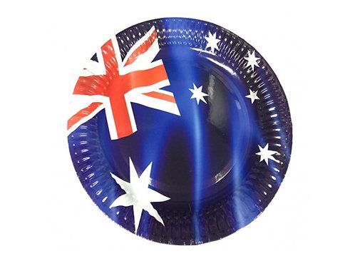 Australian Flag paper plates pack 8 - Australia Day party plates