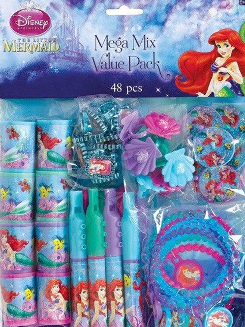 Disney Ariel Little Mermaid mini party toys pk 48