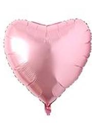 pale pink metallic heart shaped foil balloon 23 cm
