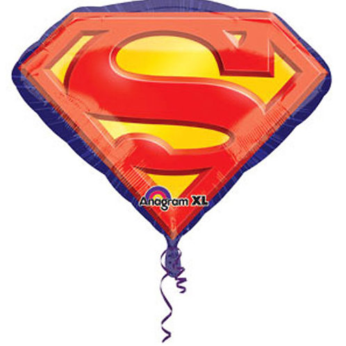 Superman foil balloon logo supershape 66 cm
