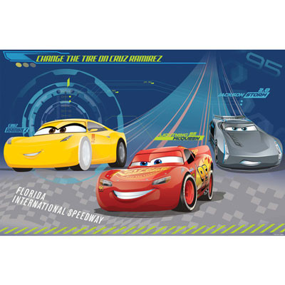 Disney Cars 3 Kids Party Game 8 Playes Plus Blindfold