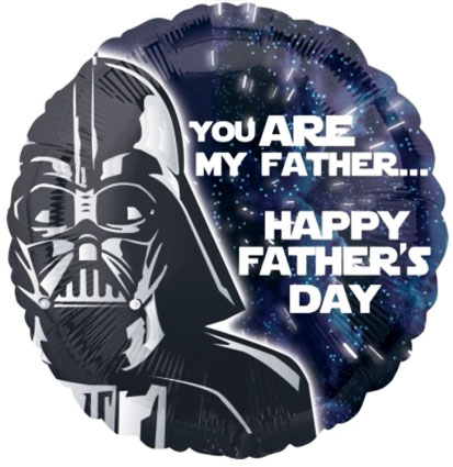 "Star Wars balloon with Darth Vader ""You are my Father"" and ""Happy Fathers Day"" Just fill with air or helium"