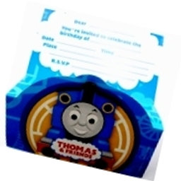 Thomas the Tank birthday party invitations pack 8