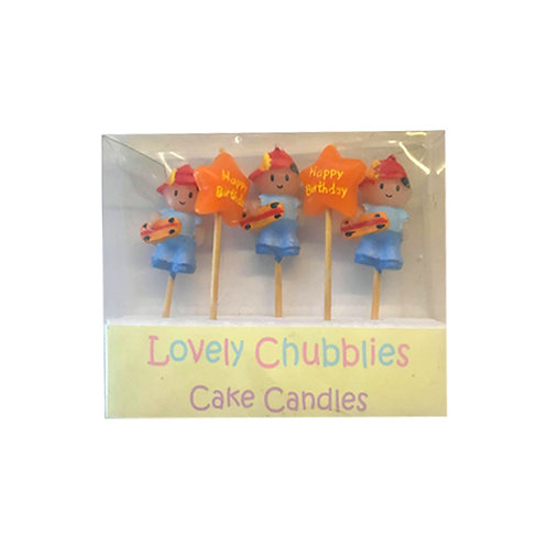 Lovely Chubblies skater boy birthday cake candles