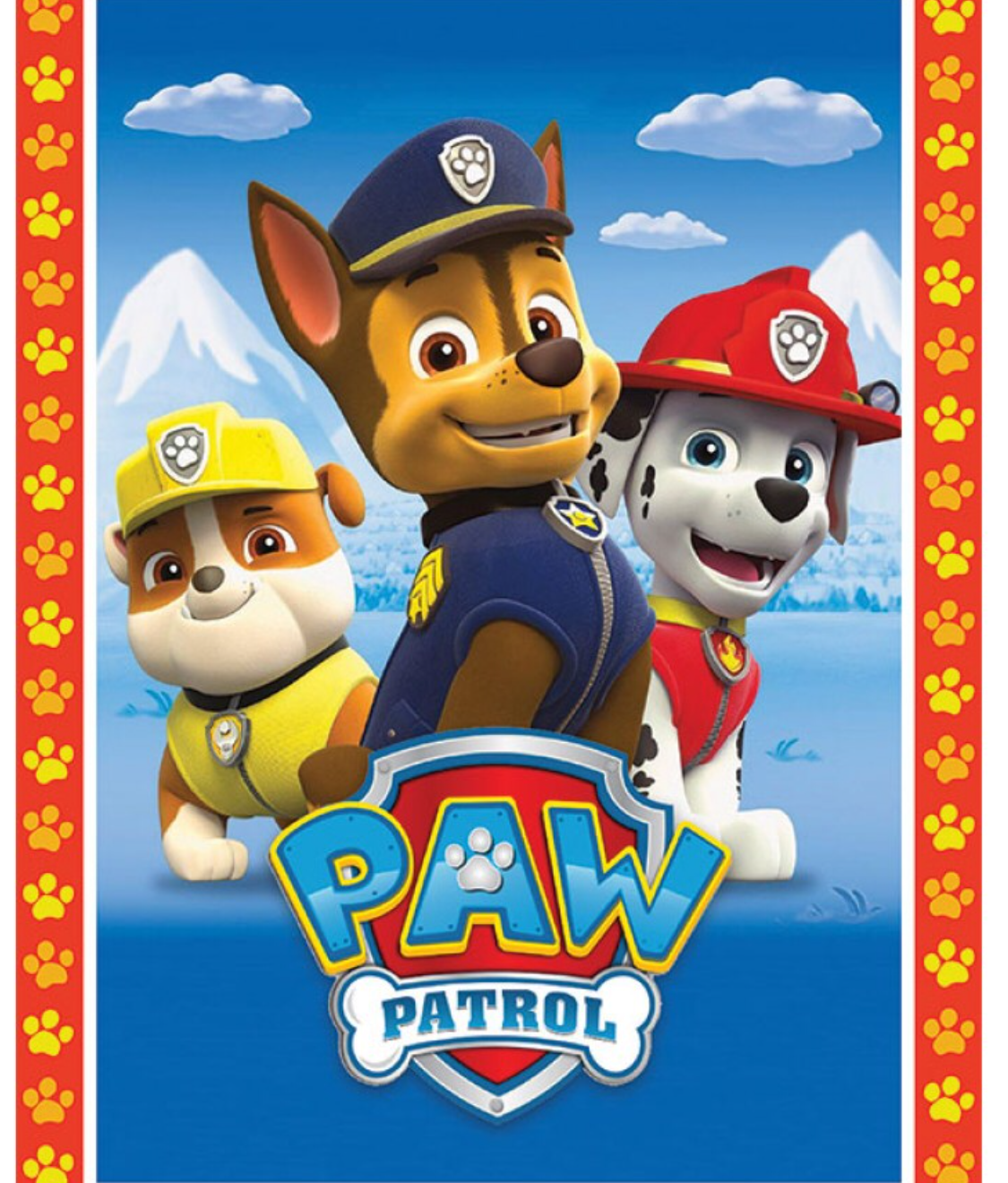 Paw Patrol printed edible icing image cake toppers