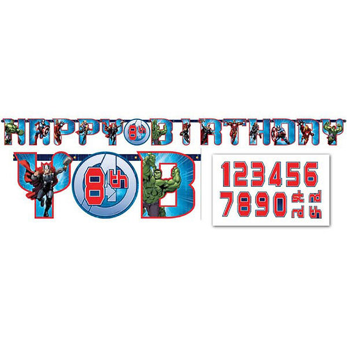 Avengers birthday banner |  party decorations | boys birthday party | birthday banners | 24-7 Party Paks