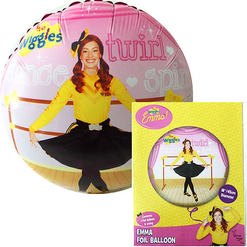 The Wiggles Emma party balloon - round foil balloon 45 cm uninflated | Wiggles birthday party supplies Australia