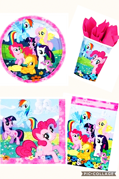 My Little Pony Party Pack 8 guests plates cups nap