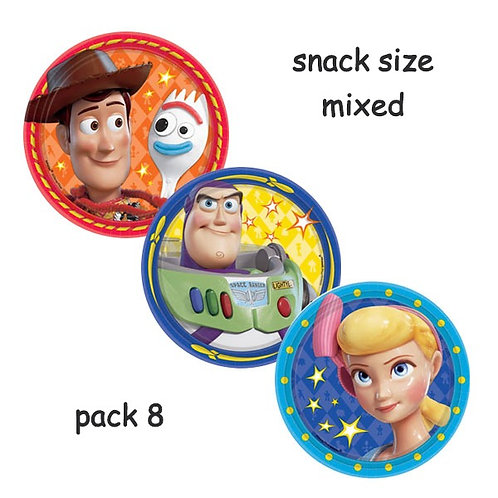 Toy Story 4 snack party plates pack 8 | Toy Story 4 small plates | Toy Story 4 party supplies
