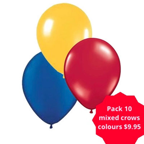 Crows mixed colours balloon pack 10