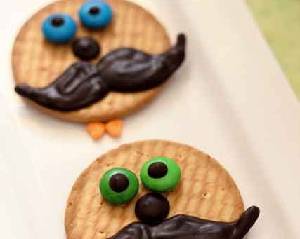"How to decorate your own ""Movember - Moustache Bash"" themed Cookies for kids"