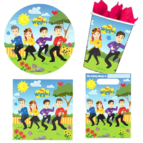 The Wiggles party packs | wiggles party supplies for kids | party packs | cups | napkins | plates | loot bags