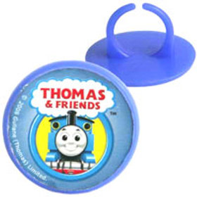 Thomas the tank cupcake rings - party favors - thomas party bag fillers - serviette rings