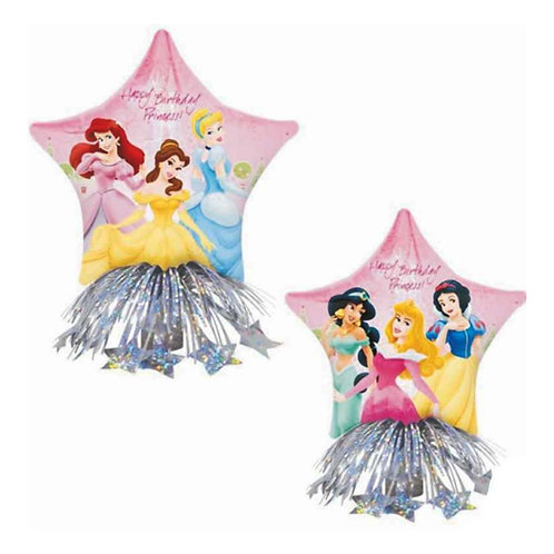 Disney Princess party foil balloon star shaped diy air filled centrepiece