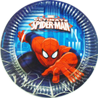 Spiderman Ultimate party plates pk 8