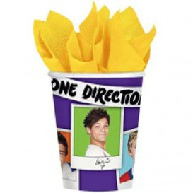One Direction 1D party cups pk 8