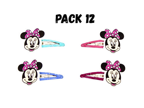 Minnie Mouse hair clip party favors pk 12