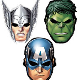 The Avengers party kids costume paperboard masks