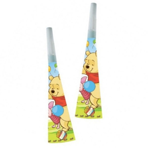 Winnie the Pooh party blowers make some noise at your party