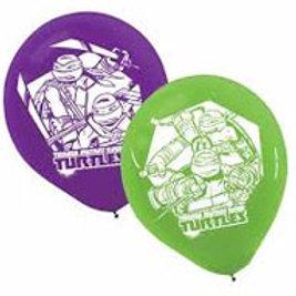 Teenage Mutant Ninja Turtles party balloons pk 6