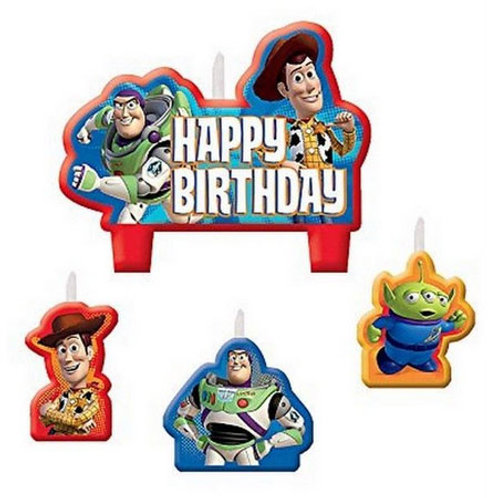 Toy Story Birthday Candle set | Buzz Woody Martian | Toy Story party | 24-7 Party Paks