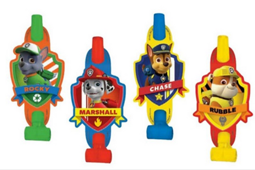 Paw Patrol party blowouts pack 8
