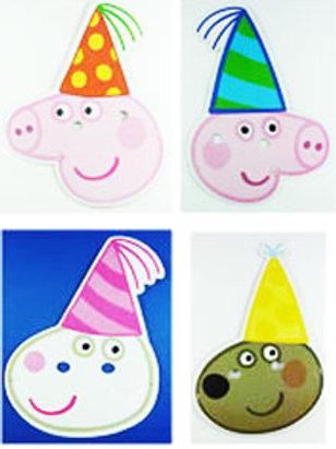 Peppa Pig party masks pk 8 Peppa Pig costume mask