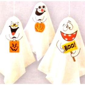 Halloween Kooky Ghosts - hanging decorations pk 3