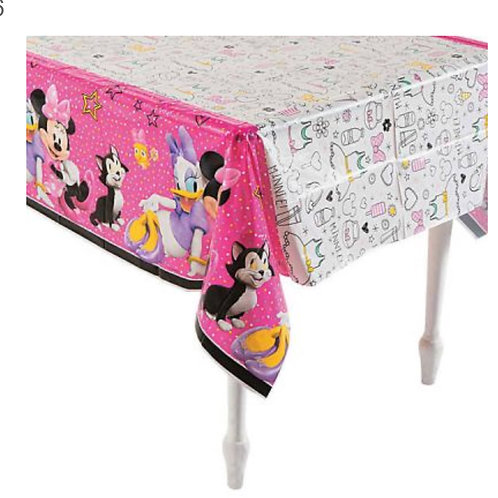 Minnie Mouse party tablecover plastic