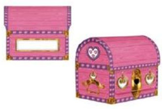 Princess party treasure chest table centrepiece