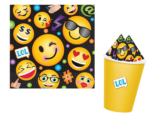 Emoji LOL party napkins pack 16