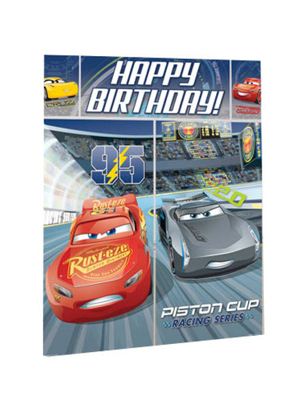 Disney Cars 3 Happy Birthday GIANT Banner and Wall decoration scene setter